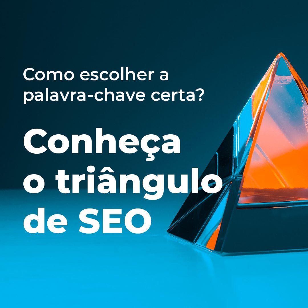 #PraCegoVer #PraTodesVerem: Sequência de seis imagens. A primeira imagem mostra um triângulo de cristal nas cores laranja e azul. Há o texto: